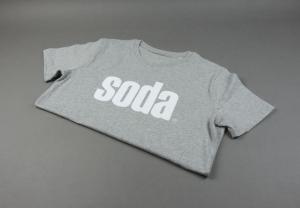 soda. T-Shirt Grau/Weiß