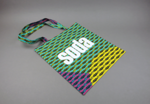 soda. Wax print cotton tote bag